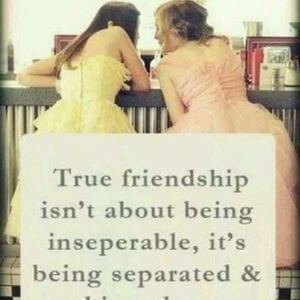 True friendship isn't about being inseparable, it's being separated and nothing changes. #BestFriend #Quotes