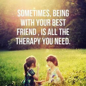 Sometimes, being with your best friend is all the therapy you need. #BestFriend #Quotes
