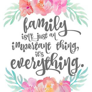 Family isn't just an important thing, it's everything. #Family #Quotes