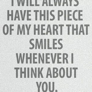 I will always have this piece of my heart that smiles whenever I think about you. #Friendship #Quotes