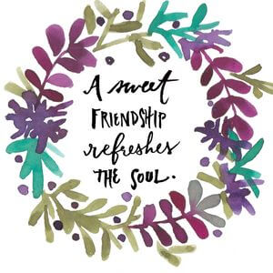 A sweet friendship refreshes the soul. #Friendship #Quotes