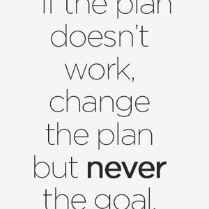 If the plan doesn't work, change the plan but never the goal. #Inspirational #Quotes