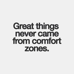Great things never came from comfort zones. #Inspirational #Quotes