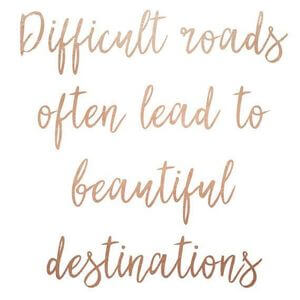 Difficult roads often lead to beautiful destinations. #Life #Quotes