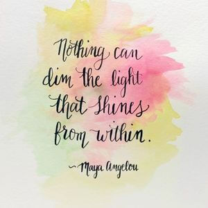 Nothing can dim the light that shines from within. #Motivational #Quotes