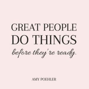 Great people do things before they're ready. #Motivational #Quotes