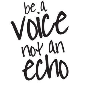Be a voice, not an echo. #Motivational #Quotes
