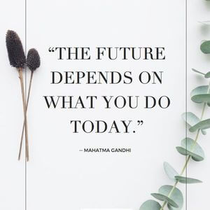 The future depends on what you do today. #Motivational #Quotes