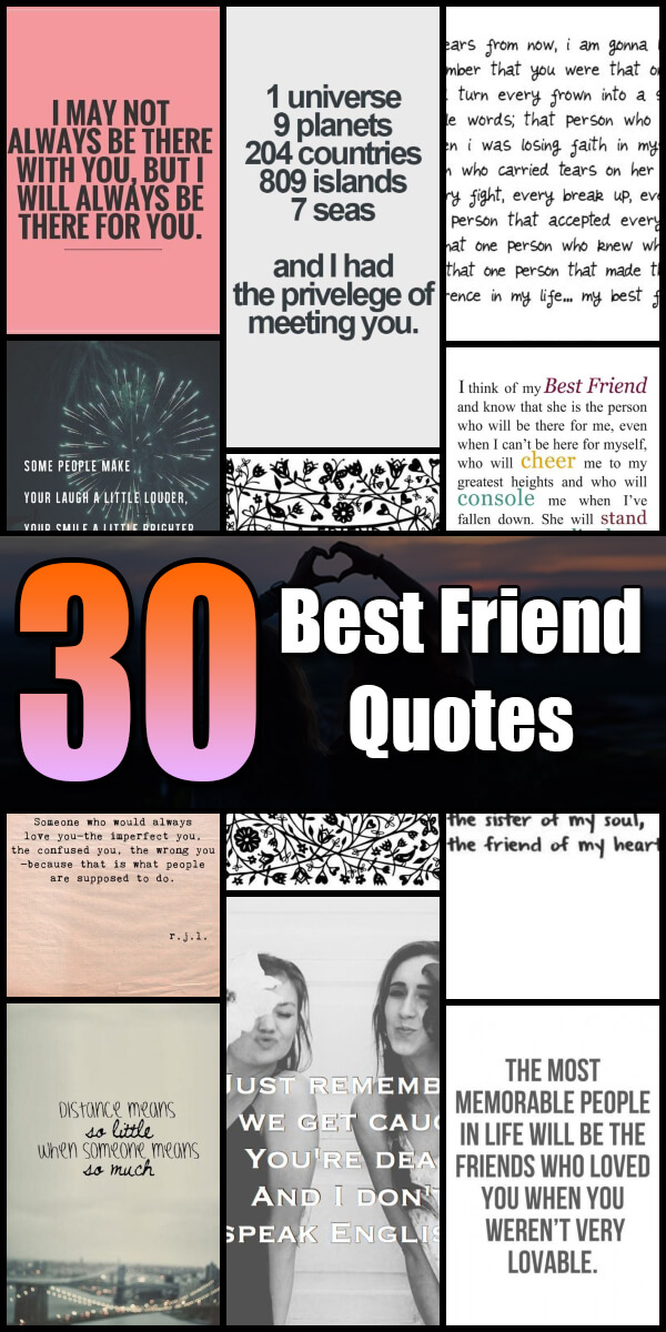 30 Best Friend Quotes - Quote Pond