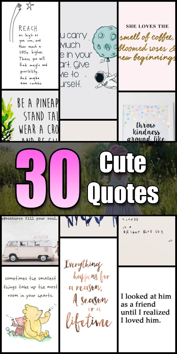 30 Cute Quotes - Quote Pond