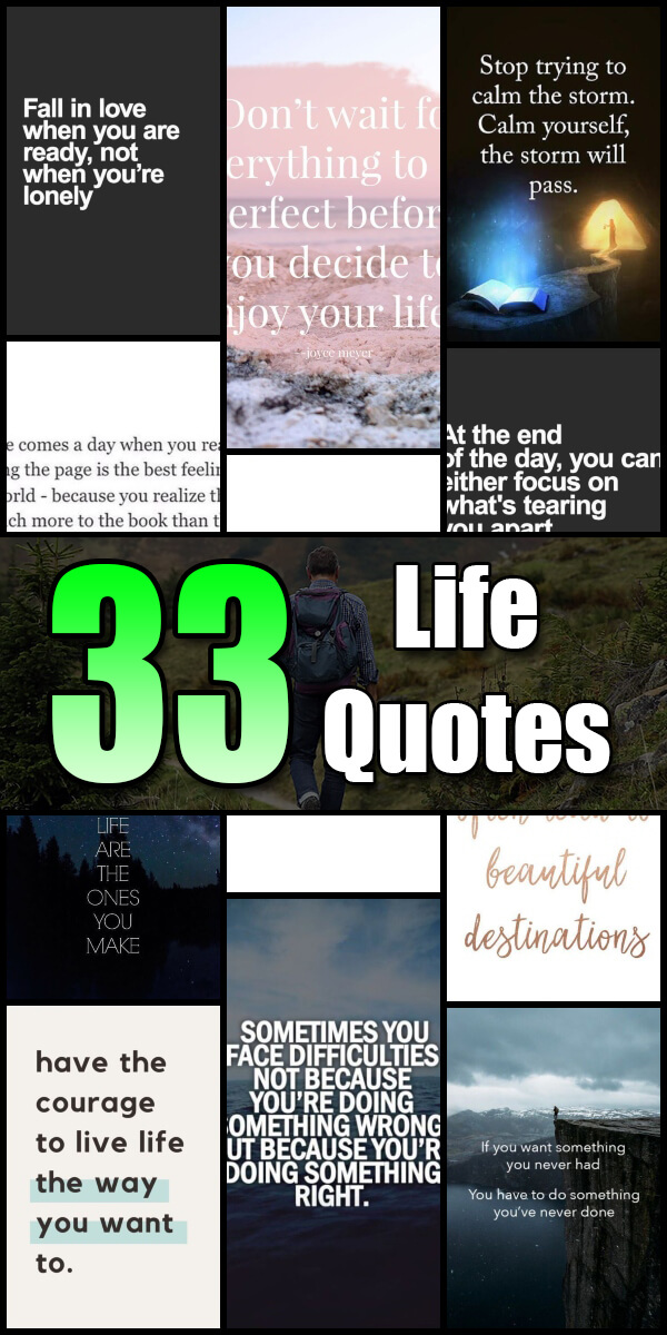 33 Life Quotes - Quote Pond