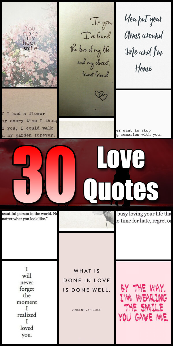 30 Love Quotes - Quote Pond